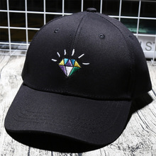 Fashion Color Mosaic Diamond Embroidery Casquette For Man Hip hop Curled Peak Hat Unisex Sporting Active Baseball Cap Dad Hats