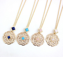 Free Shipping Love Heart Filigree Necklace Gold Fashion Personalized Monogram Necklace Jewelry Wholesale