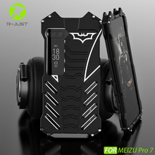 R-JUST Batman Armor Heavy Dust Rugged Outdoor Metal Aluminum Shockproof Powerful Kickstand Cover Case for Meizu Pro 7 Pro7