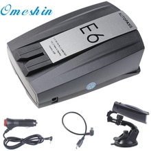 New Arrival E6 Laser Speed Of 360 degree Voice Warning Car Electronic Dog Radar DetectorOct11(China)