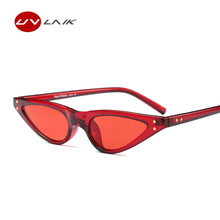 UVLAIK 2018 Small Triangle Sunglasses Women Brand Designer Cat Eye Sun Glasses For Female Cateye Eyeglasses Vintage Shades(China)