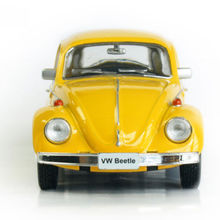 RMZ city Model Toy 1/32 Scale Yellow Volkswagen Beetle 1967 Vintage Diecast Pull Back Car Kids Toys Gift Collection