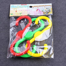 Free Shipping 9pcs Double Color Multi Function Japanese Style 360 Degree Swivel Hook S - shaped Plastic Hook Double Headed Hook