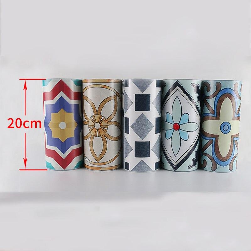 20cmx500cmx2 Korean Waist Line 3d Wall Sticker for Bathroom Kitchen Tiles Cabinet Waterproof Self Adhesive PVC Border 3d Sticker<br>