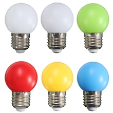 Newest Colorful 1W 2W 3W LED Light Bulb E27 Energy Saving Light Globe Golf Ball Lamp Home Decor Lighting AC 220V  360 Degrees