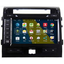 NaviTopia Brand New 1024*600 Quad Core 16G Pure Android 4.4.4 Car PC for Toyota LC200, 9 inch panel Car DVD Multimedia Player(China)