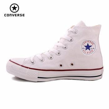 Converse all star de lona zapatos de los hombres de las mujeres zapatillas de deporte de Alta azul clásico Skateboarding Shoes envío gratis