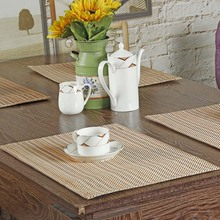 Asian Jacquard Placemats Table Striped Tablemats Dining Elegant Vintage Doily Desk Chinese Accessories Coasters Fabric Doilies