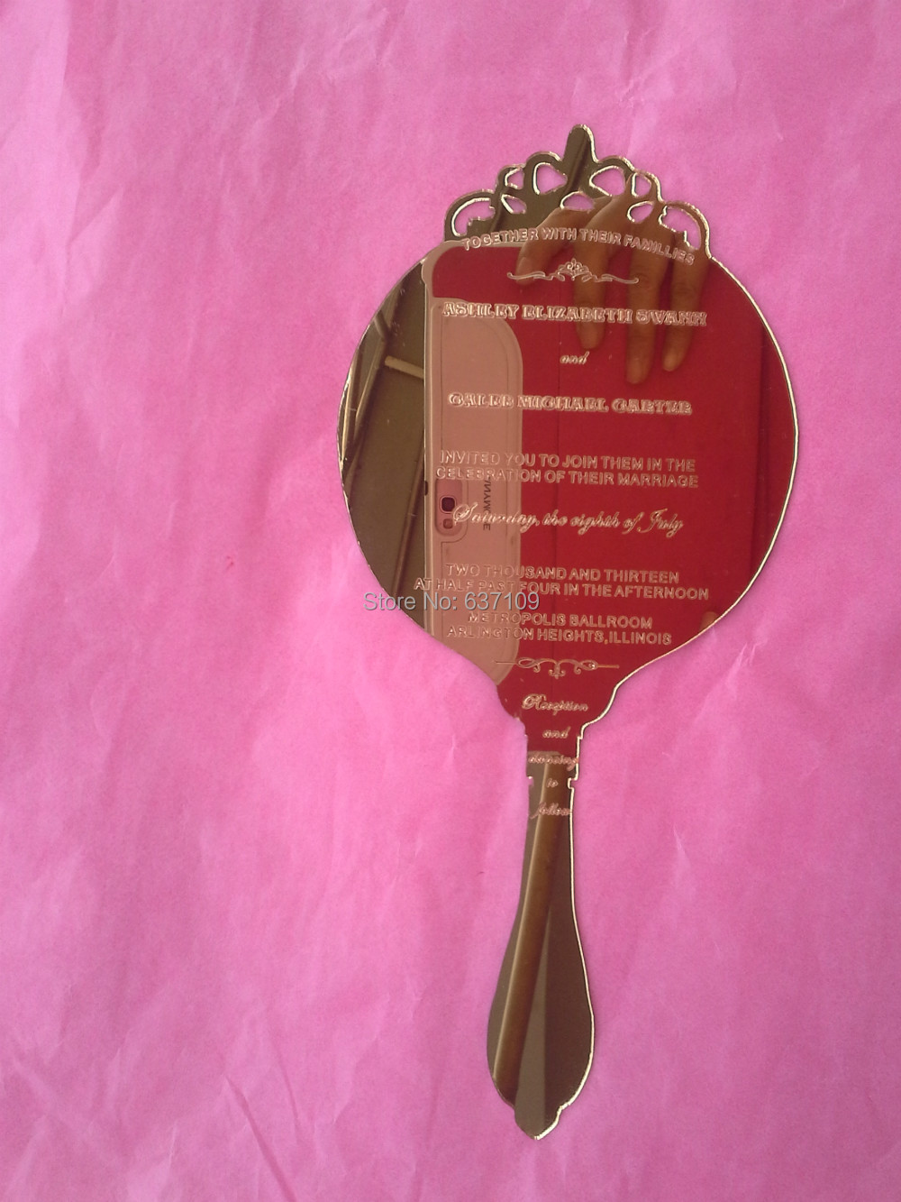Best Sample order for Clear acrylic wedding invitation card scroll ...
