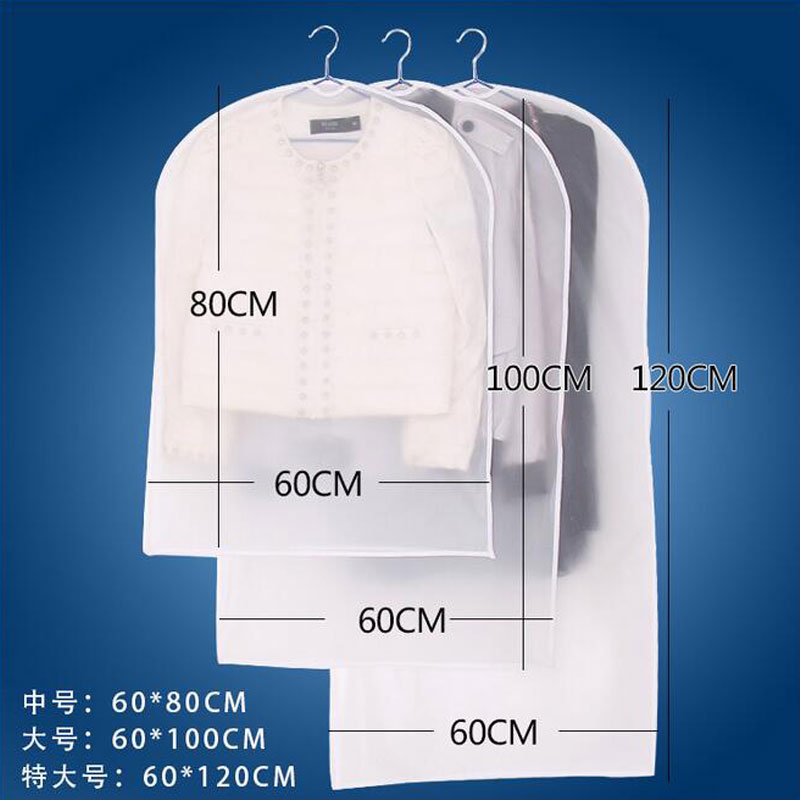 "5//10pcs 24/""x47/"" Garment Bag Suit Storage Cover Dress Clothes Coat Dust Protector"