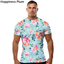 Buy Pink Flower T Shirt Fashion T-shirt Men Short Sleeve 3d Print Tshirt Tee Summer Top Hip Hop T Shirts Male Tshirt Brand S 4XL for $6.48 in AliExpress store