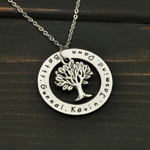 Custom name necklace,personalized family tree pendent necklace ,personalized necklace(China)