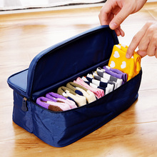 Fashion Double Open Travel Storage Bag Multifunctional Waterproof Storage Box Package Luggage Underwear Socks Tidy Organizer