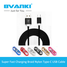 [Bvanki Type-C] 2016 New Product 1.5M 8Pin High Quality Multi Color Nylon Braided Type C USB 2.0 Cable For iphone5/5s/6/6s