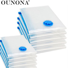 OUNONA Vacuum Storage Bags Space Saver Packing Compression Storage Bags for Luggage Clothes Bedding Pillows Blanket(China)