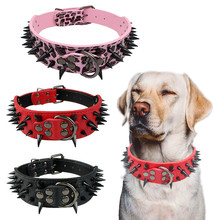 Misterolina Rivet Spiked Collar For Small Medium Large Dogs Accessories Pet Products Leather Leashes Adjustable Puppy Neck Strap(China)