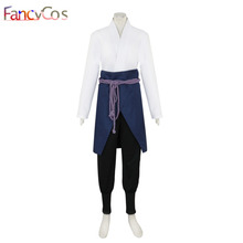 Halloween Naruto Sasuke Uchiha The 4th Suit niform Costume Cosplay Adult High Quality Deluxe(China)