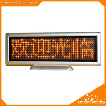 Yellow LED desk board mini led moving sign with USB Input rolling news(China)