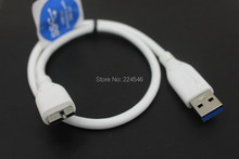 "Used Original W Digital USB 3.0 Micro B White Cable 18"" for My Passport Essential Essential SE MAC/PC 500GB/750GB/1TB(China)"