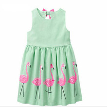 Girl Clothing Cartoon Print Bowknot Children's Clothing 2017 New Girls Dress Up Children