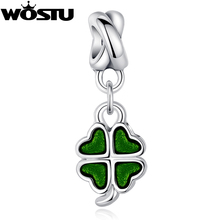Buy TOP Silver Plated Four-Leaf Clover DANGLE Charm Beads Fit Original wst Bracelet Pendants Women DIY Jewelry for $1.99 in AliExpress store
