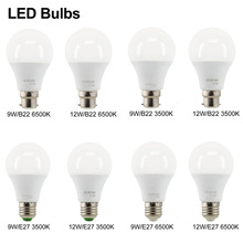 Led E27 220V LED Bulb Lamps 220V Light Bulb Smart IC Real Power B22 9W 12W High Brightness Lampada LED Bombillas