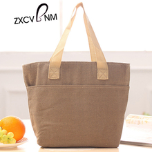 Hot Sale 2017 New Fashion Women Tote Handbag Female Casual Print Canvas Square ice bag big thermal insulation bag  LV08