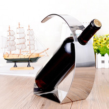 1PC New Fashion Stainless Steel Wine Holder Fashion Bar Wine Shelf Creative Wine Frame Wall Thickening Wine Rack