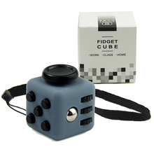 12pcs/Lot 2.2cm Mini Fidget Cube Vinyl Desk Toy Keychain Squeeze Fun Antistress Cubo Stress Reliever Toys With Box Wholesale(China)