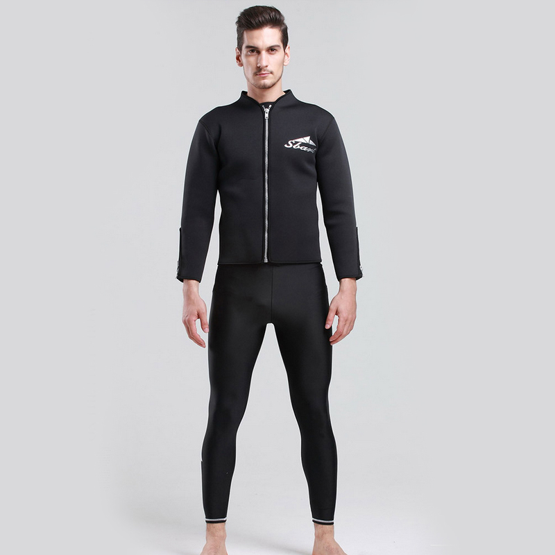 H745 Free shipping Super Strech 3MM Neoprene Mens Wetsuit Jacket Long SleeveTop Rashguard Surfing Wet Suit Warm Diving Swimwear<br>