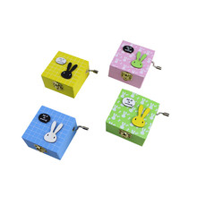 Hand Crank Music Box Christmas Birthday Small Gifts Wooden Music Box Mechanical Musical Boxes Kid Toys Music Boxes(China)