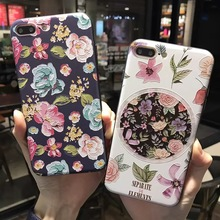 SZYHOME Phone Cases for IPhone 6 6s 7 Plus Case Retro Floral Art Discounted for IPhone 7 Plus Embossment Mobile Phone Cover Capa