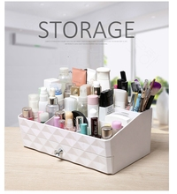 2017 new hot modern plastic drawer desktop makeup organizer storage box Multi-function Debris Office home decor jewelry box(China)