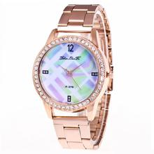 Women's Lady's Rose Gold Watch Fashion And Casual  Luxury Women Quartz Stainless Steel Strip Wrist Watch Mujer Relogios