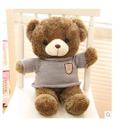 Stuffed animal Teddy bear stripes sweater teddy bear about 23 inch plush toy 60 cm bear throw pillow doll wb528<br><br>Aliexpress