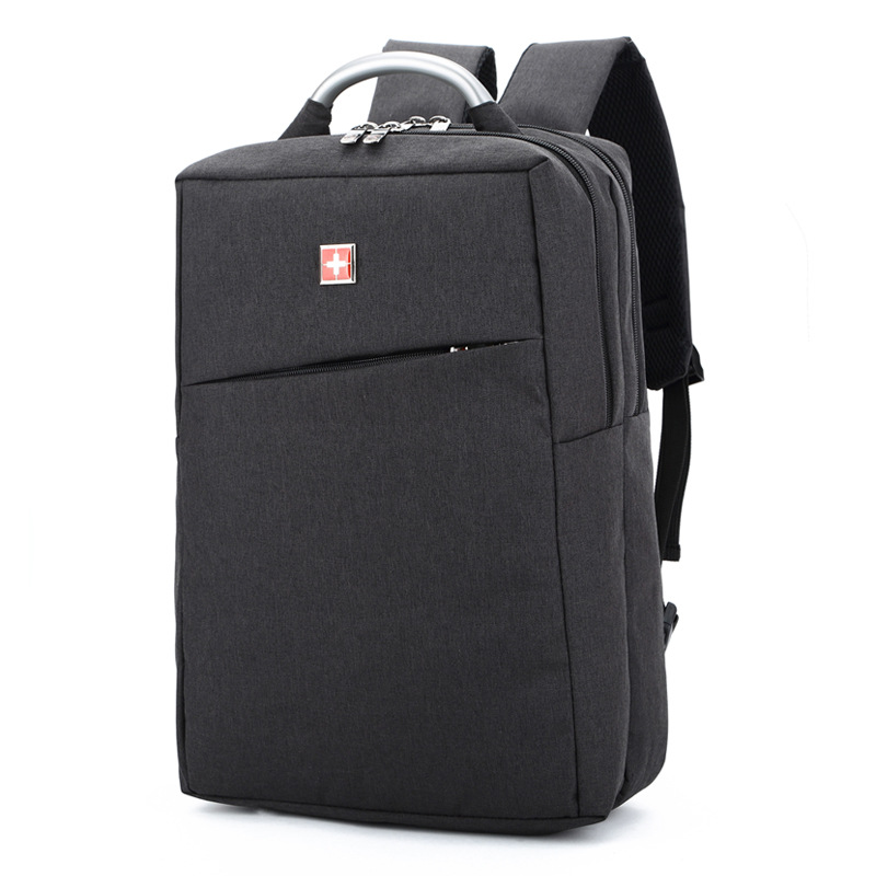 VENIWAY Anti theft Waterproof Knapsack for Swiss Brand Laptop Backpack Men Black Grey Teenagers School Bags For Swiss Cross Gear<br>