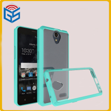2 in 1 Soft Bumper Case Clear Back Hard Phone Cover For ZTE Prestige 2 Prestige2 N9136