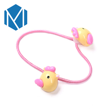 M MISM New Lovely Animals Rubber Bands Kids Cute Hair Accessories Baby Girls Lovely Chick Elastic Hair Bands Students Headwear