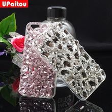 UPaitou Luxury Bling Crystal Rhinestone Back Case for iPhone 6 6S 7 Plus 5 5S SE Diamond DIY Case Cover for 6Plus 7plus 3D Cases(China)