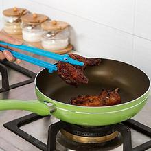 Kingko Newly Plastic Cooking Kitchen Tongs Food BBQ Salad Bacon Steak Bread Clip Happy Sale ap512