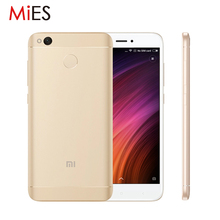 "Original Xiaomi Redmi 4X 4 X 4GB RAM 64GB ROM Mobile Phone Snapdragon 435 Octa Core 5.0"" 2.5D Screen 13.0MP 4100mAh Fingerprint"