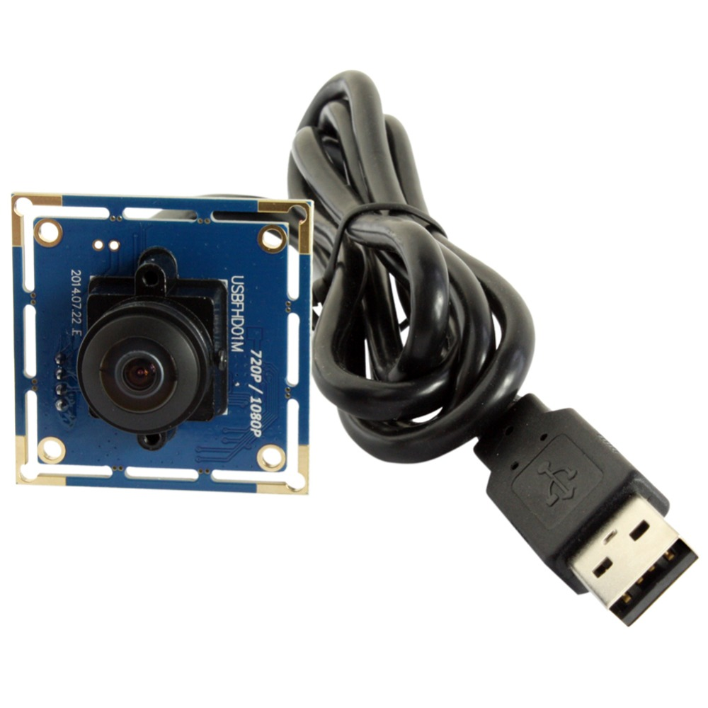 2MP Cmos OV2710 Wide Angle 180 degree fisheye Android Usb Camera Module 1080P free driver UVC  for Industrial Machine Vision ELP<br>
