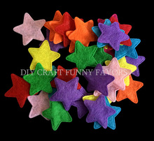 100PCS 25mm Non-woven patches Star Shape Felt Appliques for clothes Sewing Supplies diy craft accessories scrapbook