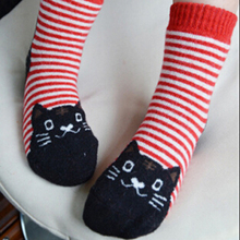 (5Pairs/Lot)2017 winter thickening child cashmere loop pile socks baby socks cashmere socks baby thermal kitten children socks(China)