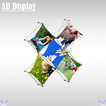 Trade Show Portable 5 Section X Shape Pop Up Display Stand With Fabric Graphics Printing(China)