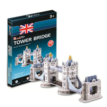 Development of intelligence,Educational toys,good quality,foam,emulational toys,gifts,buildings,mini,Tower Bridge,3D PUZZLE