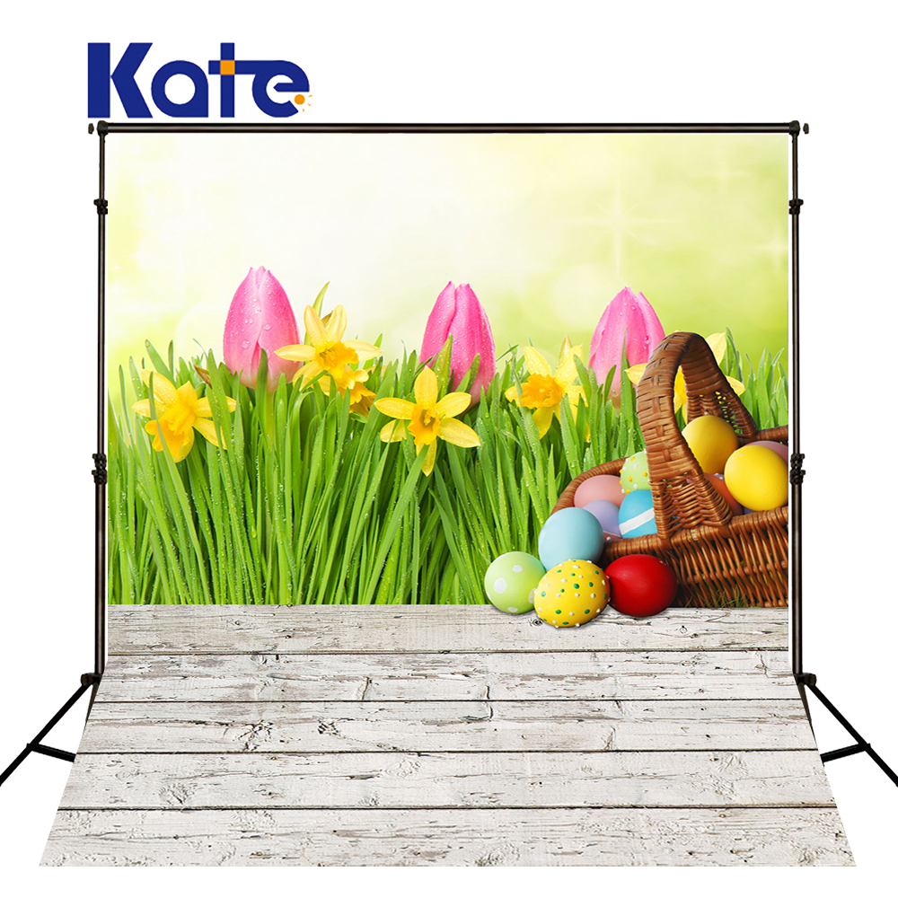 5x7ft Kate Easter Photography Backdrop Egg Tulip Backgrounds For Photo Studio Children Microfiber Studio Backdrop <br>
