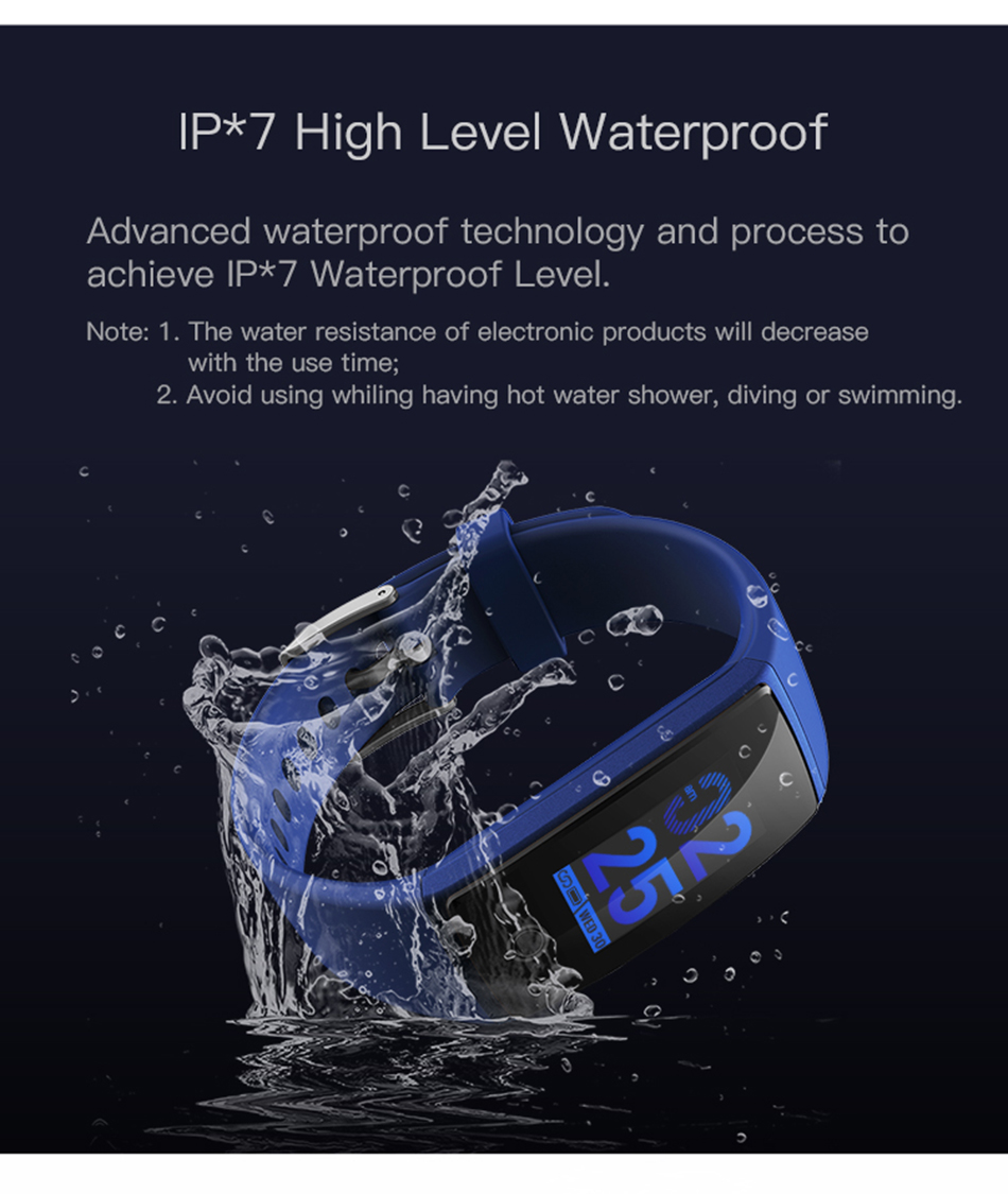 V29 Smart Wristband Bracelet Fitness Tracker Heart Rate Monitor Blood Pressure Smart Band for iPhone X 8 Plus Samsung Note 8 5 4