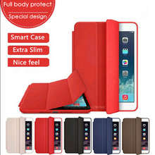 Nice special design magnetic PU leather smart case for apple ipad mini 4 3 2 1 iPad 4 3 2 cover case full protective slim thin