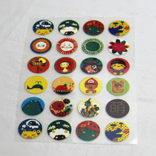 24 Cartoon Offset Press Iron-on Patches for Clothing Offset PET Transfer DIY Scrapbooking Materails Patches 1Pcs 10x14cm >USD8